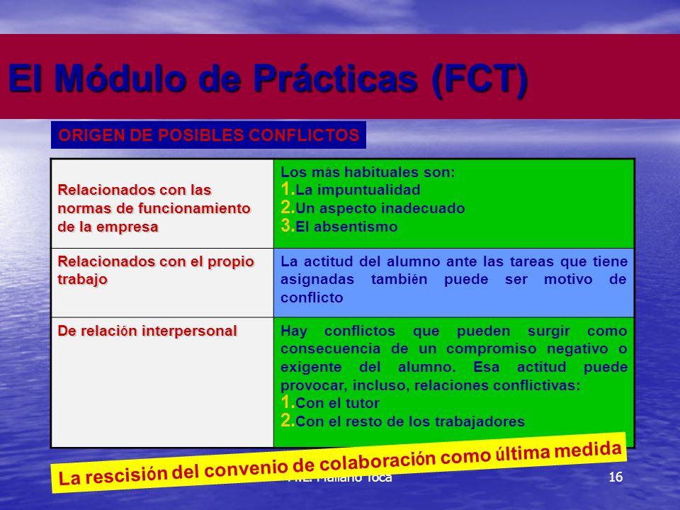 16 El Módulo de Prácticas (FCT) M.L.