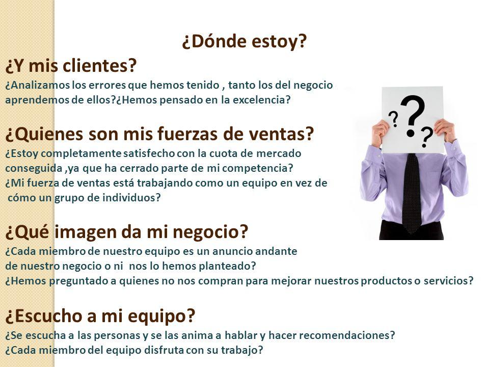 ¿Dónde estoy? ¿Y mis clientes? ¿Analizamos los errores que hemos tenido, tanto los del negocio como los individuales, y aprendemos de ellos?¿Hemos pen