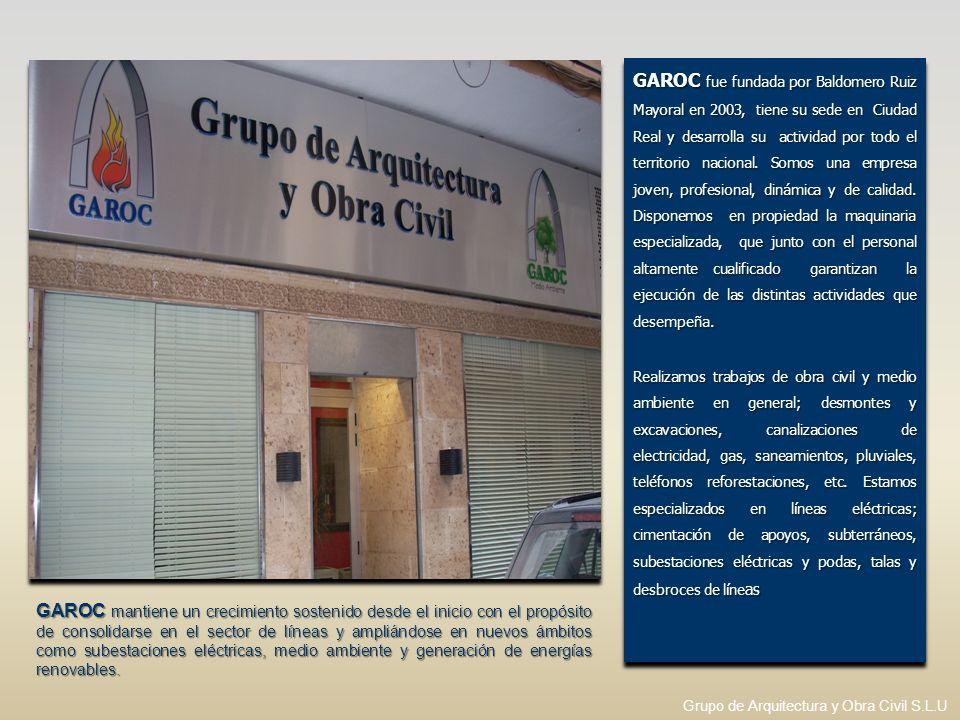 GAROC fue fundada por Baldomero Ruiz Mayoral en 2003, tiene su sede en Ciudad Real y desarrolla su actividad por todo el territorio nacional. Somos un