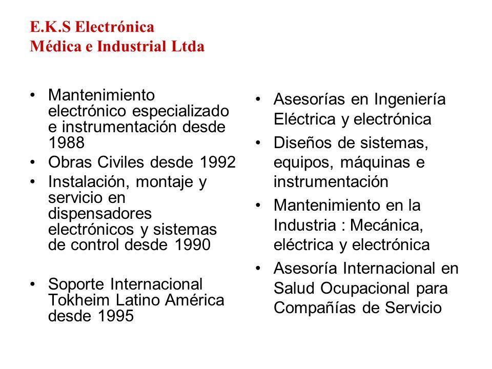 E.K.S Electrónica Médica e Industrial Ltda Mantenimiento electrónico especializado e instrumentación desde 1988 Obras Civiles desde 1992 Instalación,