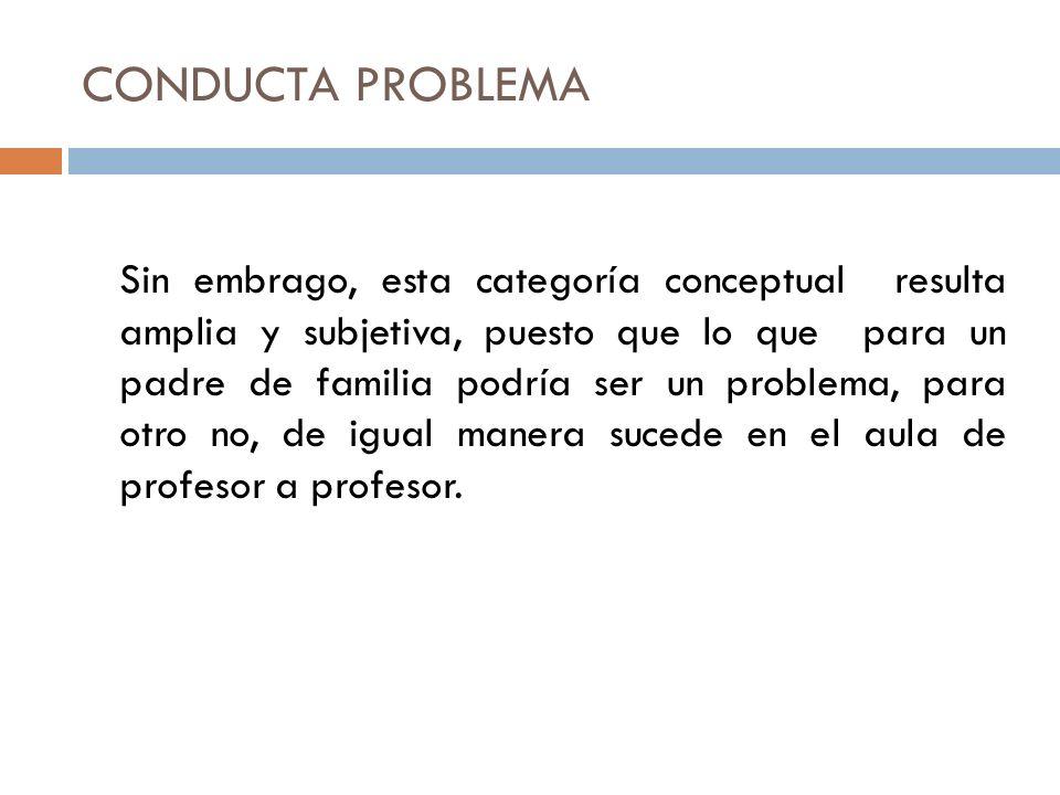 5.Conducta violenta.