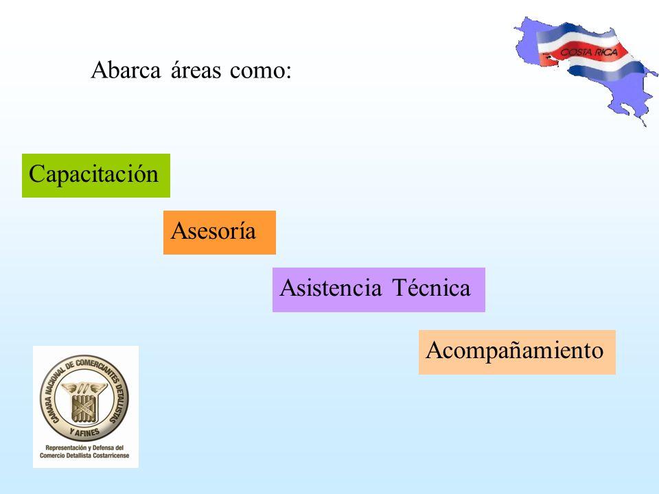 Abarca áreas como: Asesoría Asistencia Técnica Acompañamiento Capacitación