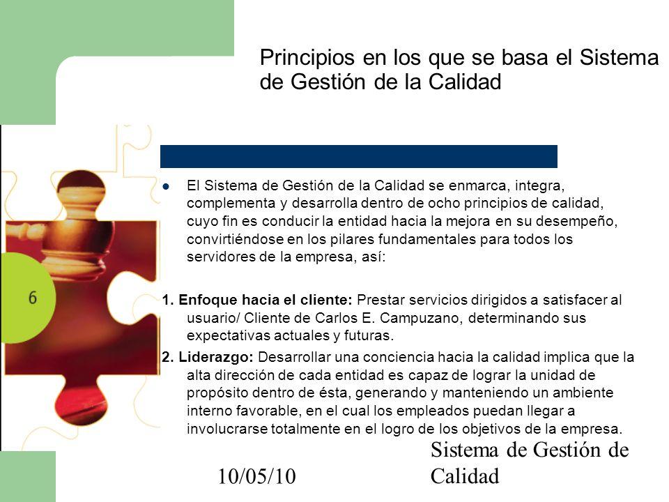 10/05/10 Distribuya este documento con el personal de su sucursal Gracias por su atención Preparado por: Juan Guillermo Gómez Rodríguez Coordinador de sistema de Gestión