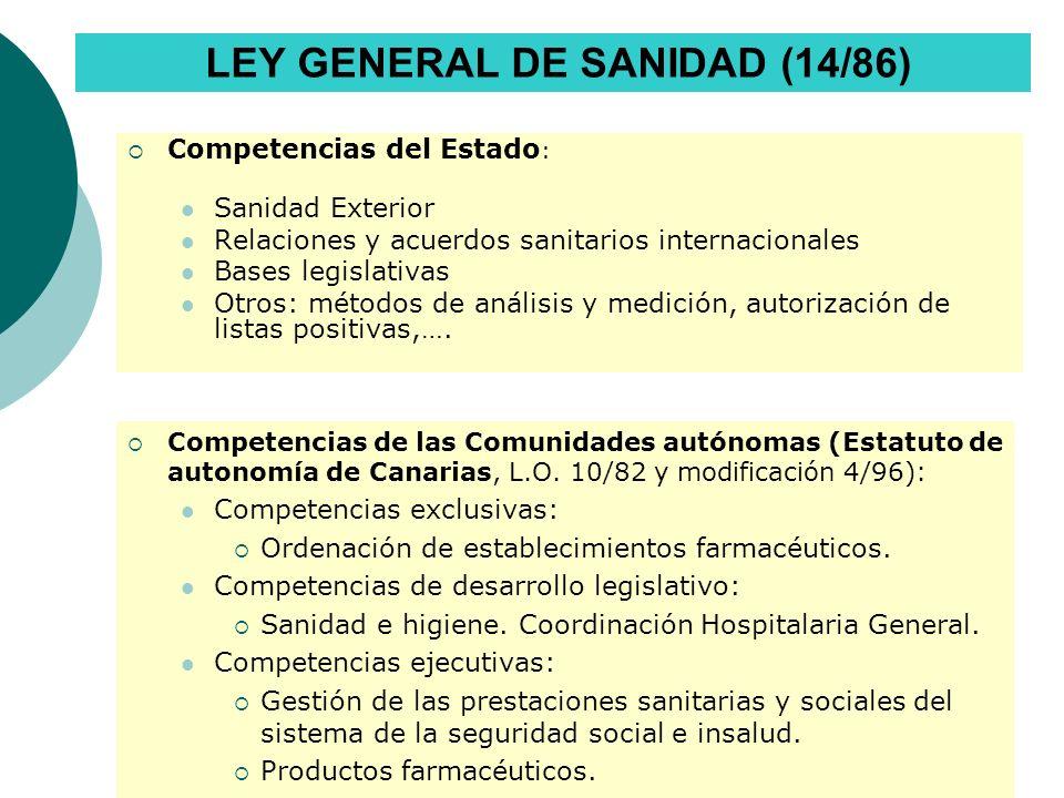 Traspaso de las competencias en materia de sanidad a la Comunidad Autónoma de Canarias REAL DECRETO 446/1994, DE 11 DE MARZO.