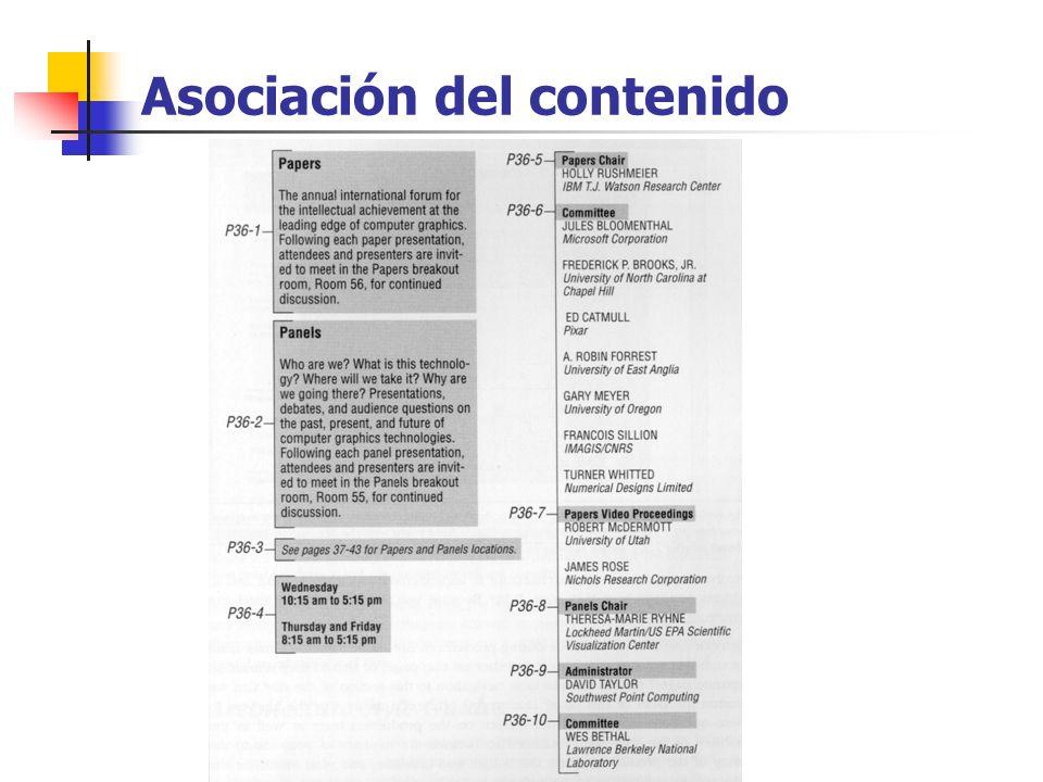Asociación del contenido