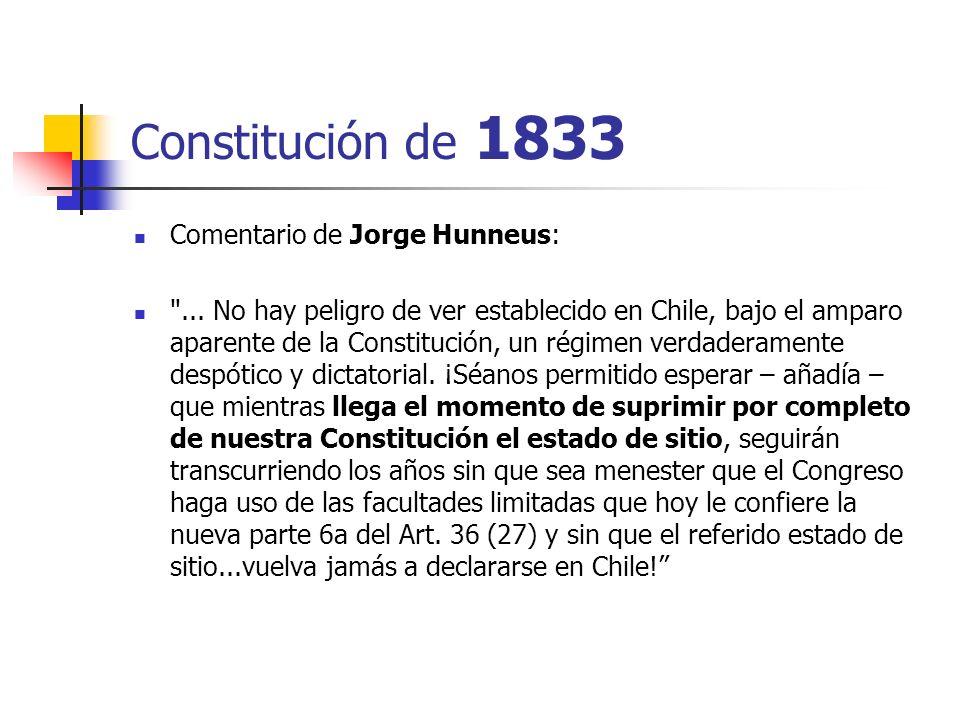 Constitución de 1833 Comentario de Jorge Hunneus: ...