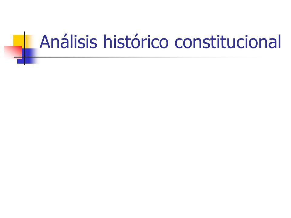 Análisis histórico constitucional