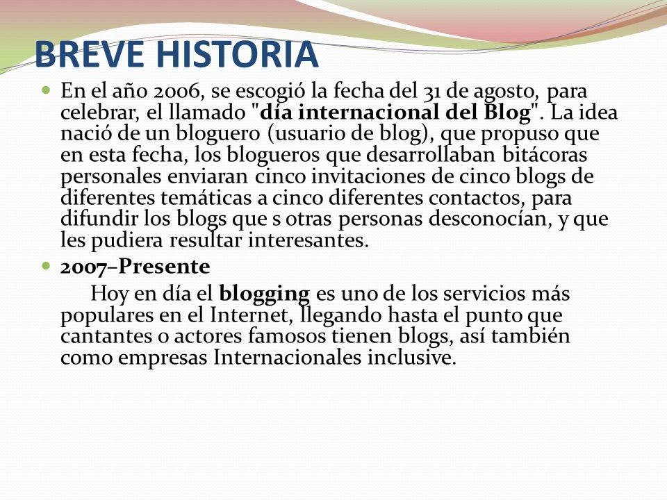 BREVE HISTORIA En el año 2006, se escogió la fecha del 31 de agosto, para celebrar, el llamado