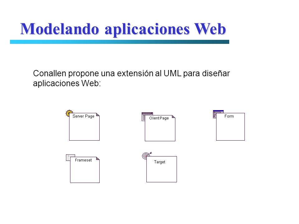 Conallen propone una extensión al UML para diseñar aplicaciones Web: