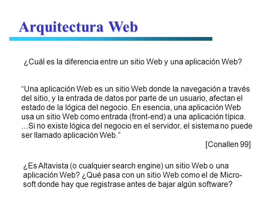 Una aplicación Web es un sitio Web donde la navegación a través del sitio, y la entrada de datos por parte de un usuario, afectan el estado de la lógi