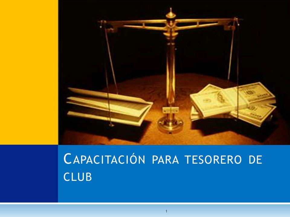 C APACITACIÓN PARA TESORERO DE CLUB 1
