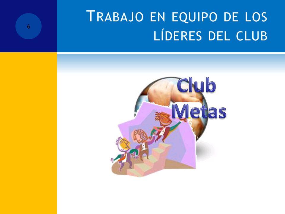 T RABAJO EN EQUIPO DE LOS LÍDERES DEL CLUB 6