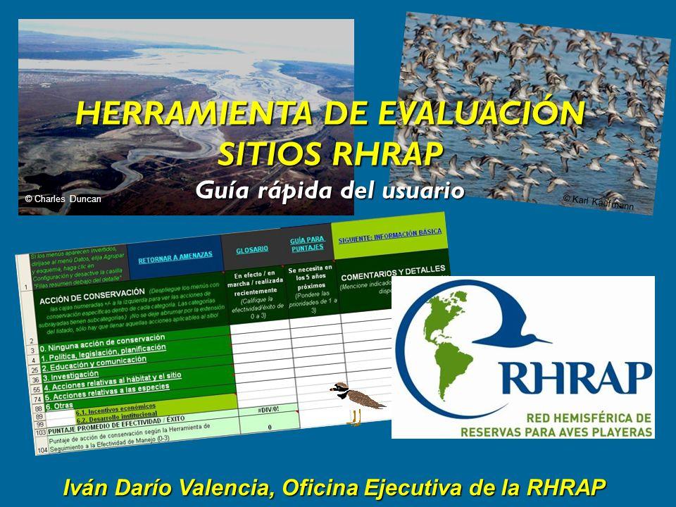 Iván Darío Valencia, Oficina Ejecutiva de la RHRAP © Charles Duncan © Karl Kaufmann