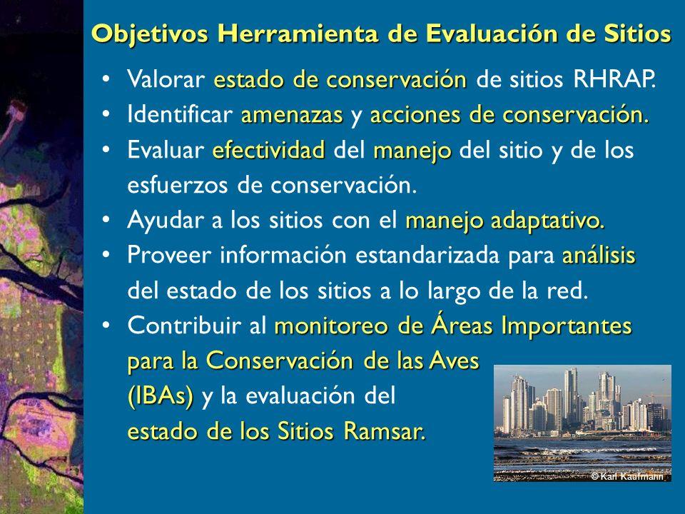 Sección de acciones de conservación Doble objetivo: medir efectividad de medidas existentes y prioridades para próximos 5 años.