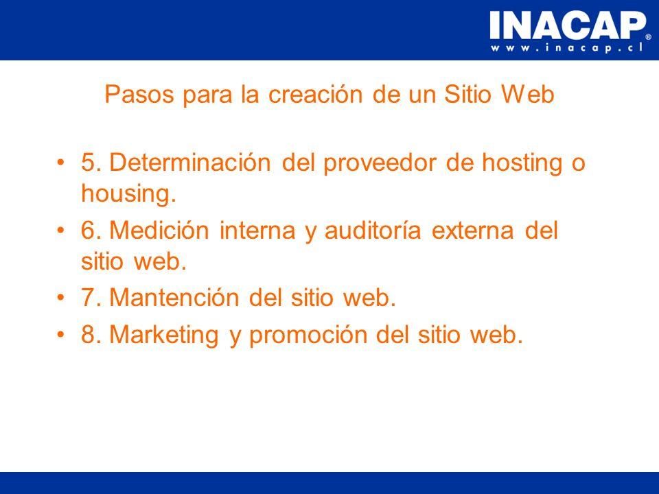 Pasos para la creación de un Sitio Web 1.