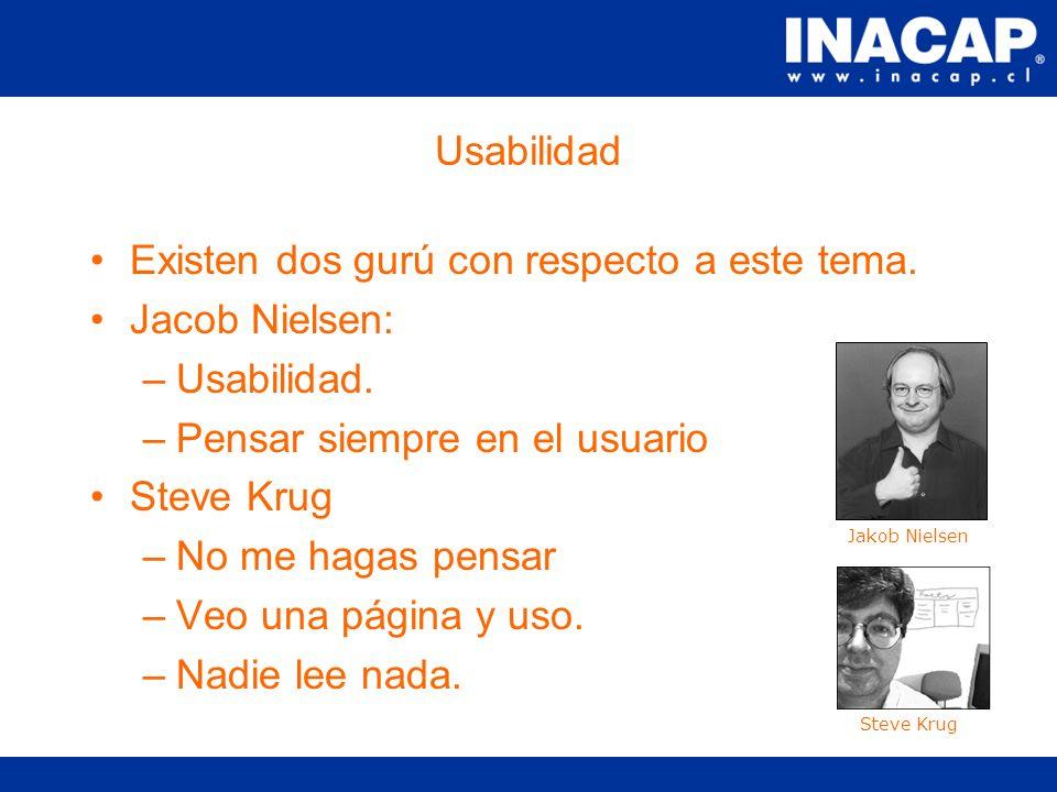 Usabilidad La usabilidad se refiere al grado de satisfacción que experimenta un usuario al visitar un sitio.