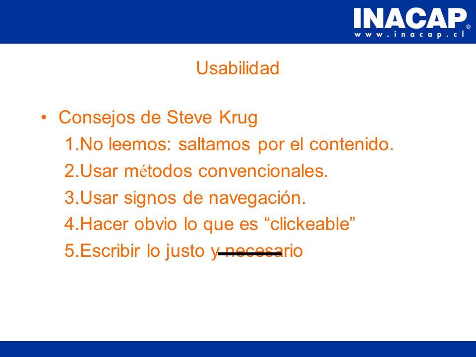Usabilidad Consejos de Jakob Nielsen 1. Incluir un lema.