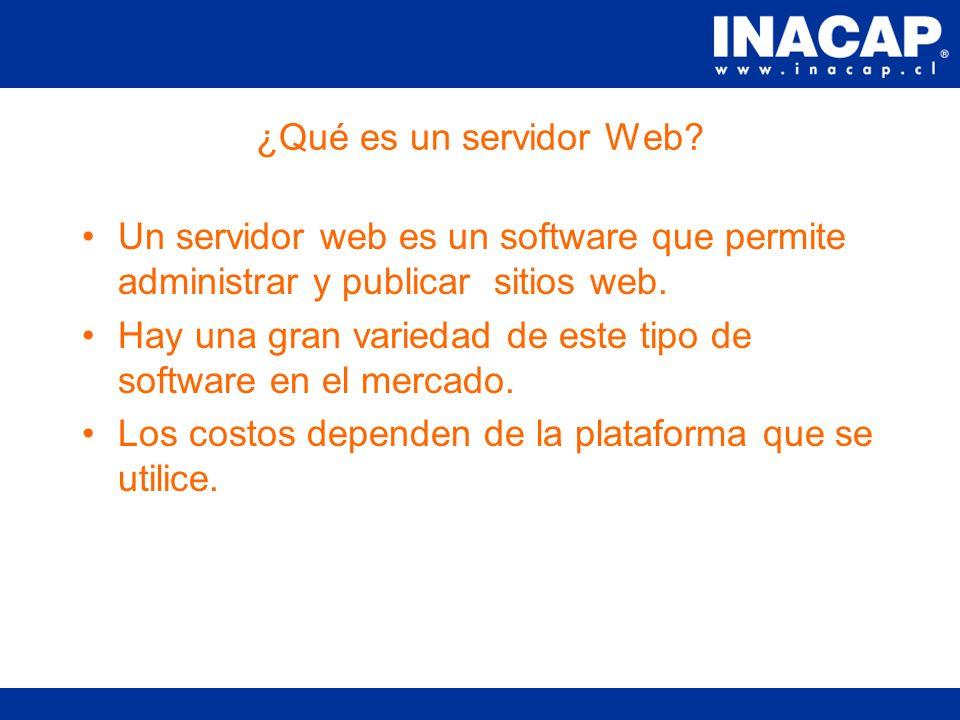 Conocimientos sobre servidores web Contenidos ¿Qué es un servidor Web.