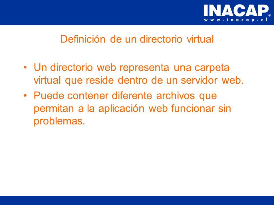 Características de un Sitio Web Tiene asociada una IP y un puerto.
