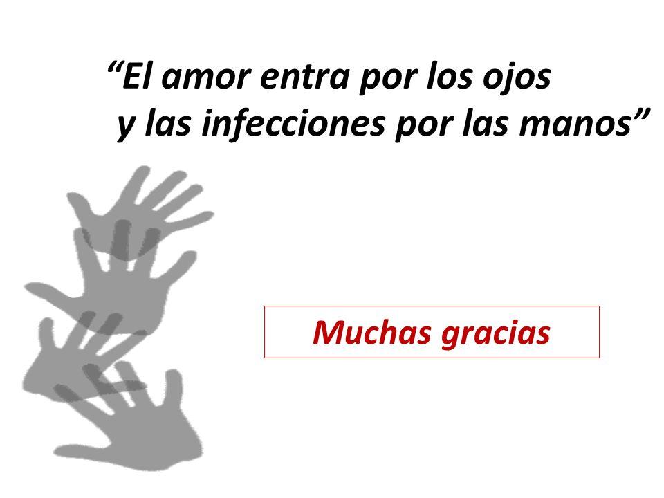 El amor entra por los ojos y las infecciones por las manos Muchas gracias