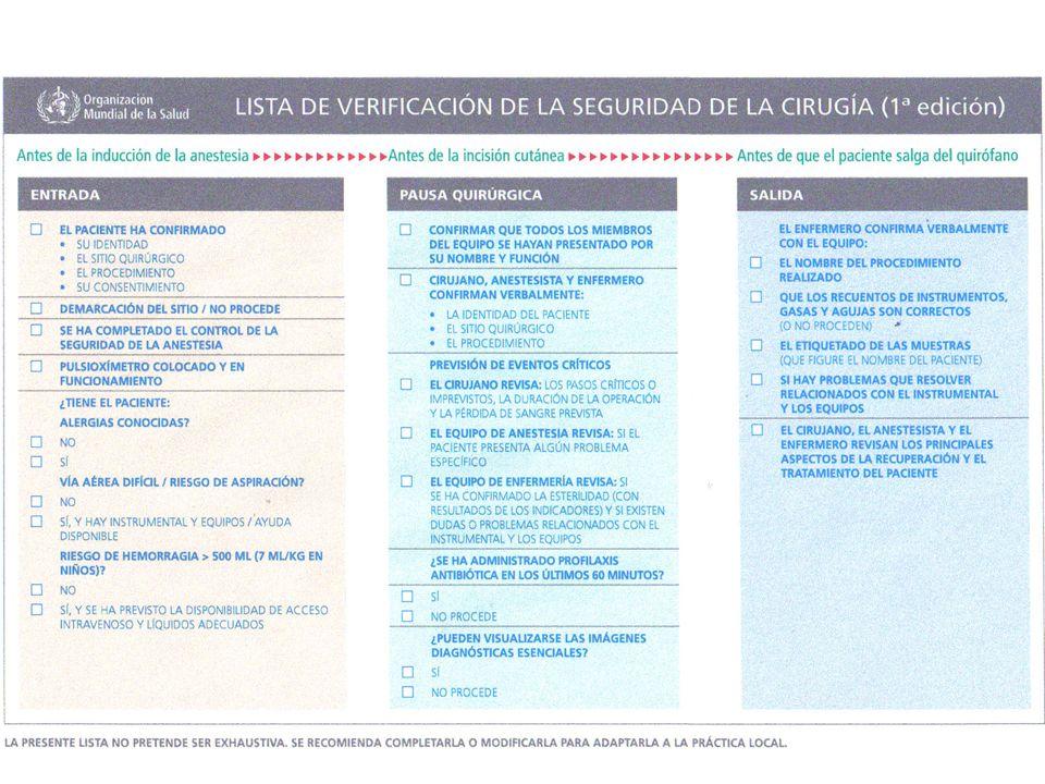 Prevención de infecciones del sitio quirúrgico Quirófano Seguro Medidas de Control (Pre, Trans y Post quirúrgico)