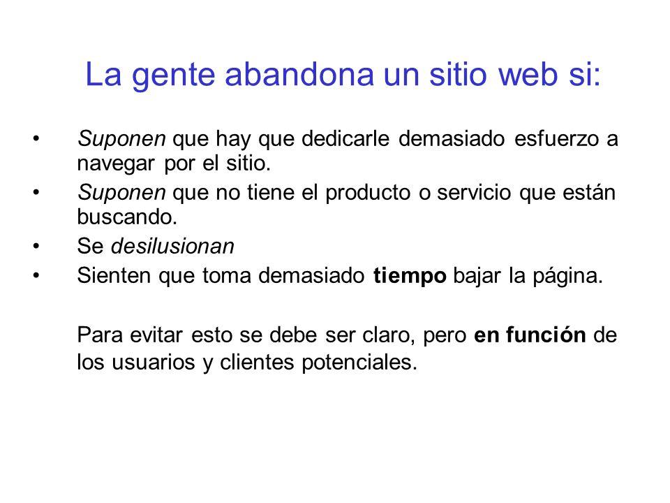 En un sitio web sin competidores también hay que considerar a los usuarios.