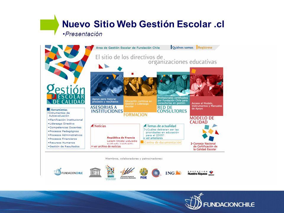 Nuevo Sitio Web Gestión Escolar.cl Presentación