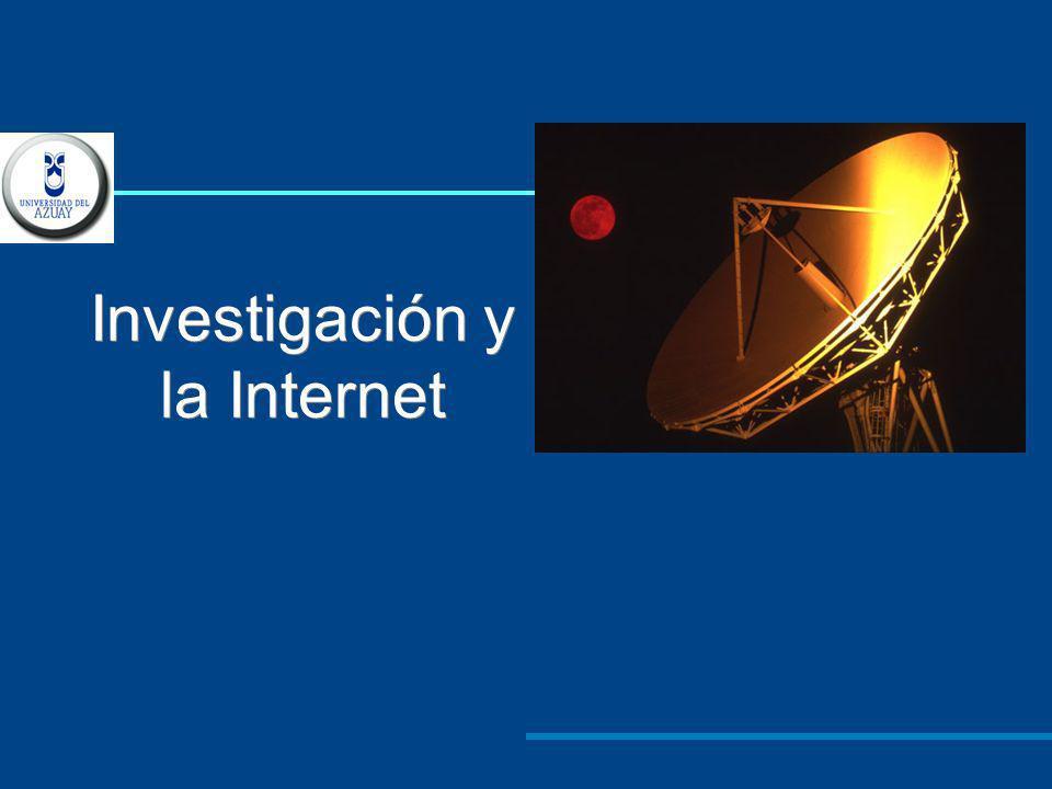 La Internet es una gran herramienta para la investigación, siempre y cuando tengamos la destreza para encontrar información de calidad en la Web.