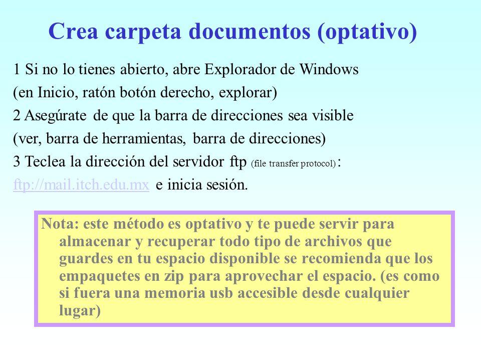 Crea carpeta documentos (optativo) Nota: este método es optativo y te puede servir para almacenar y recuperar todo tipo de archivos que guardes en tu