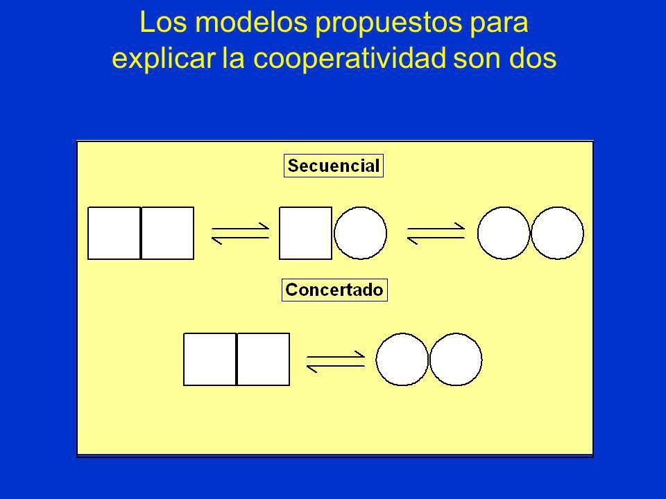 Los modelos propuestos para explicar la cooperatividad son dos