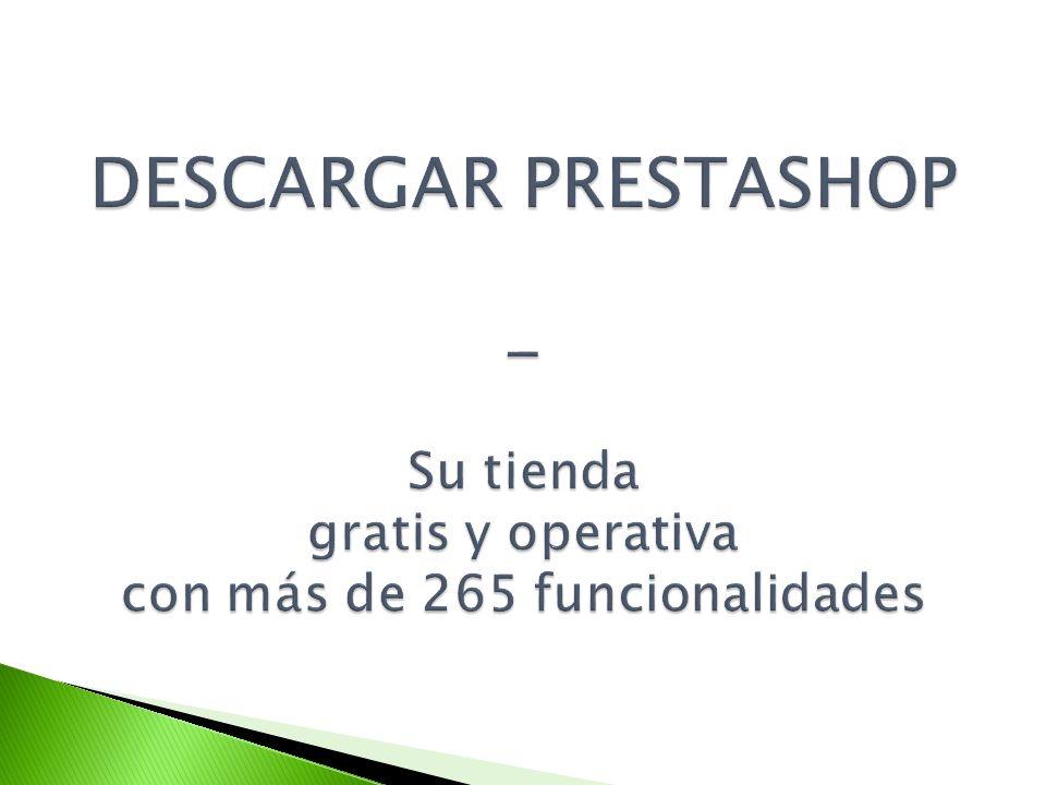 1 2 Puede empezar a transferir PrestaShop hacia su servidor.