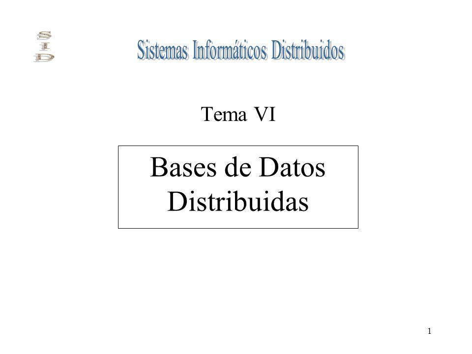 1 Bases de Datos Distribuidas Tema VI