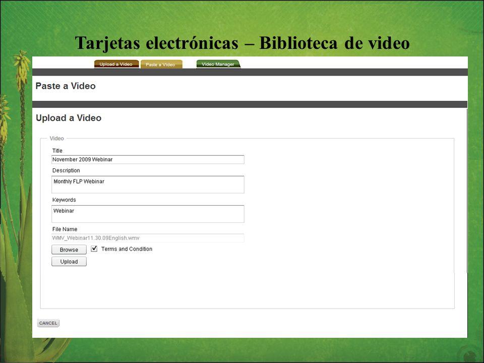 Tarjetas electrónicas – Biblioteca de video