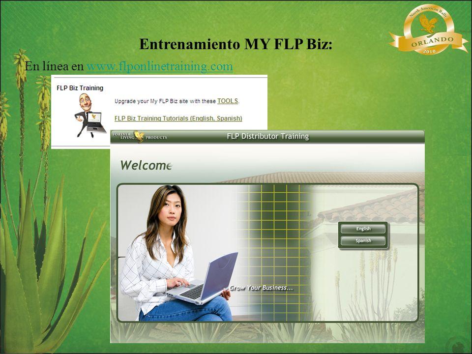 Entrenamiento MY FLP Biz: En línea en www.flponlinetraining.comwww.flponlinetraining.com