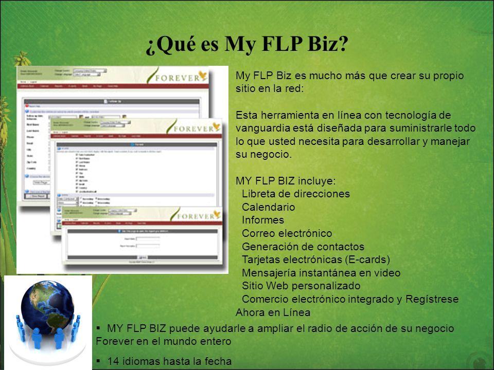¿Qué es My FLP Biz? My FLP Biz es mucho más que crear su propio sitio en la red: Esta herramienta en línea con tecnología de vanguardia está diseñada