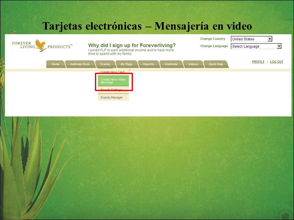 Tarjetas electrónicas – Mensajería en video