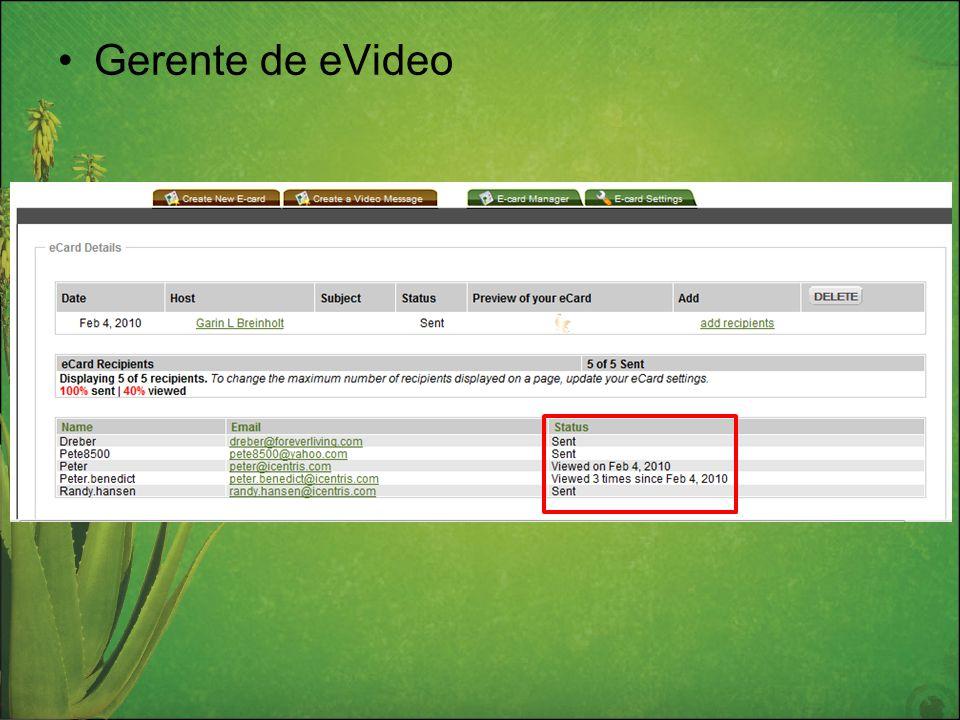 Gerente de eVideo