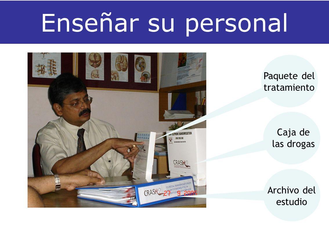 Enseñar su personal Archivo del estudio Caja de las drogas Paquete del tratamiento