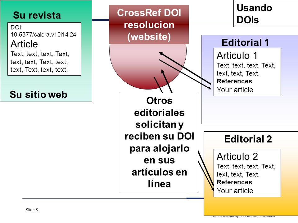 Slide 8 Su revista Su sitio web DOI: 10.5377/calera.v10i14.24 Article Text, text, text, Text, text, text, Editorial 1 Articulo 1 Text, text, text, Tex