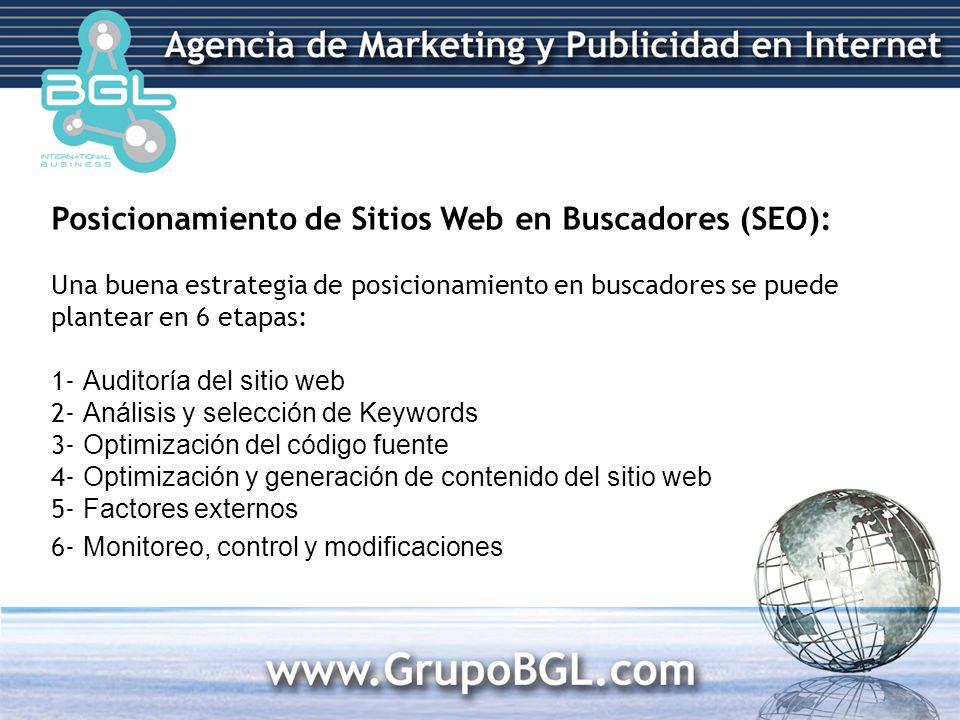 1- Auditoría del sitio web El sitio web del cliente (y su estado en los buscadores) es revisado en profundidad para establecer sus principales falencias y necesidades de SEO.