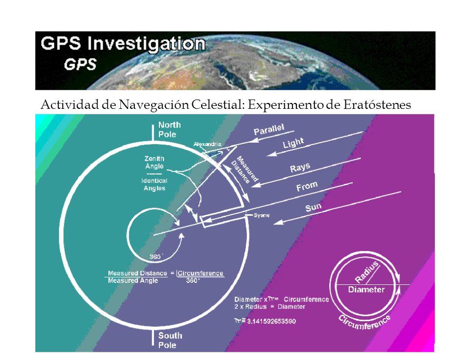 10 Actividad de Navegación Celestial: Experimento de Eratóstenes