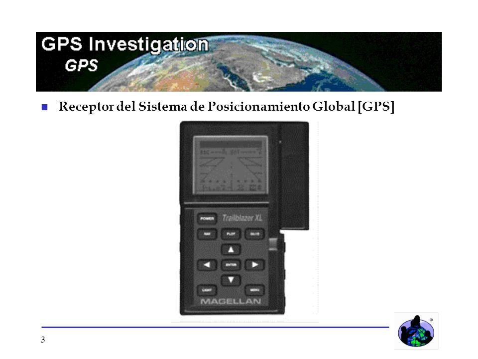 3 n Receptor del Sistema de Posicionamiento Global [GPS]