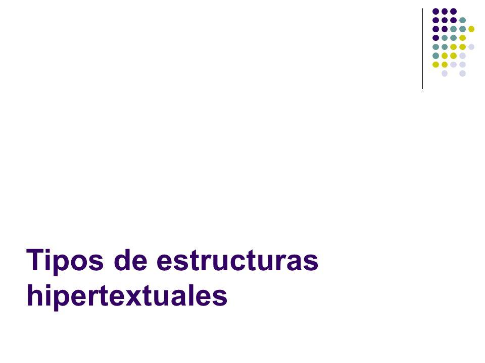 Tipos de estructuras hipertextuales