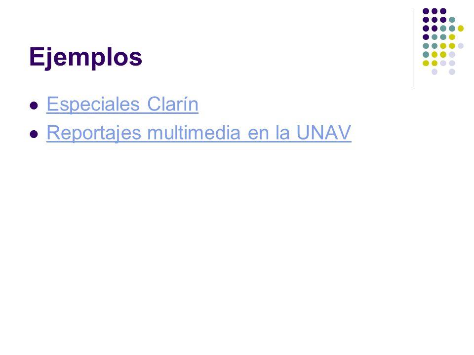 Ejemplos Especiales Clarín Reportajes multimedia en la UNAV