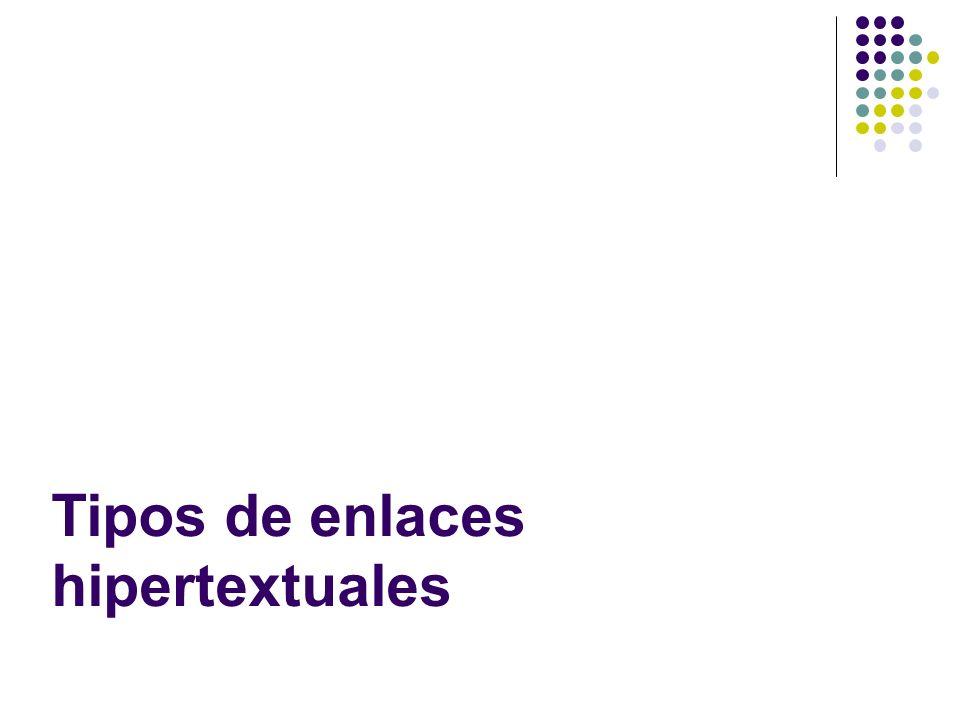 Tipos de enlaces hipertextuales