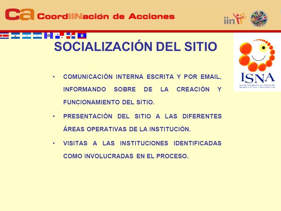 COMUNICACIÓN INTERNA ESCRITA Y POR EMAIL, INFORMANDO SOBRE DE LA CREACIÓN Y FUNCIONAMIENTO DEL SITIO.
