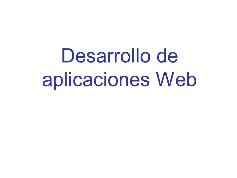 Aplicaciones Web Una aplicación WebUna aplicación Web es aquella que está basada en el servicio de información WWW, funciona en una red como Internet, es gobernada por un servidor y sus resultados son presentados mediante páginas web