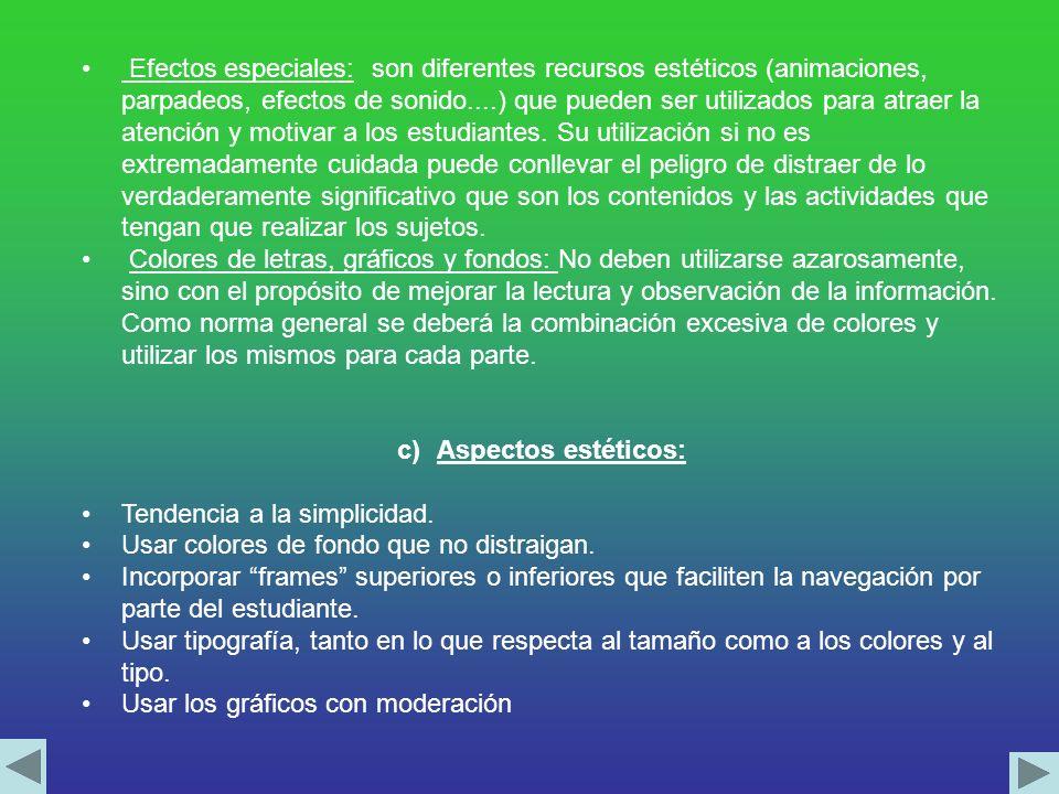 b)Elementos técnicos Estructura de diseño: diseño hipertextual y no lineal.