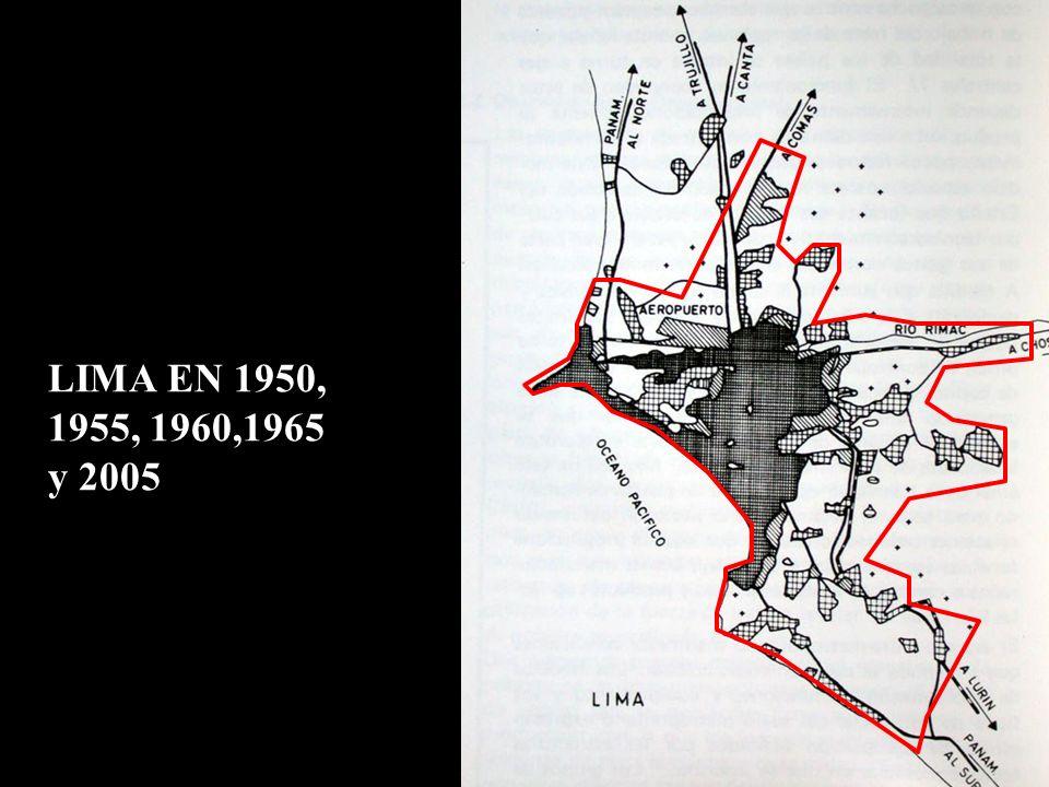 LIMA EN 1950, 1955, 1960,1965 y 2005