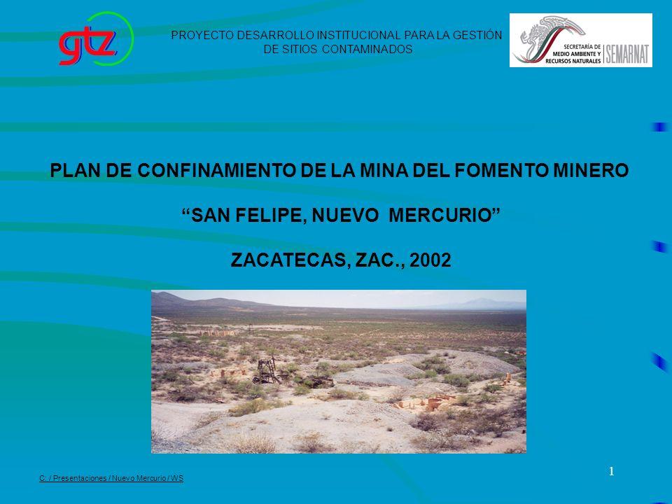 12 Limpiar el sitio de la antigua Mina del Fomento Minero y construir una casa para visitantes.